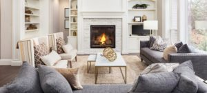 Traditional Living Area with Fireplace